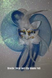 Blauw wit maskertje met tube