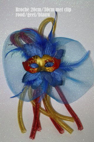 Rood geel blauw maskertje met tube