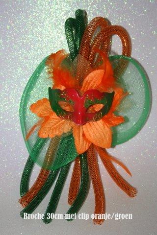 Oranje groen maskertje met tube