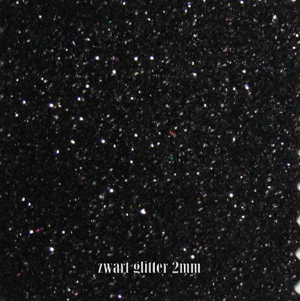 glitterfoam zwart