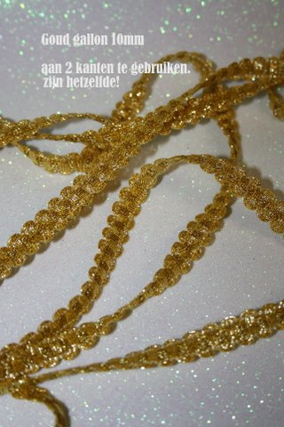 Gallon goudkleurig 10 mm
