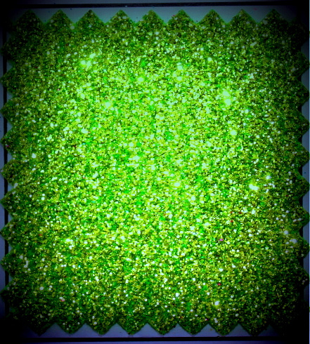 glitterfoam licht groen
