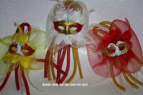 Rood wit geel maskertje met tube