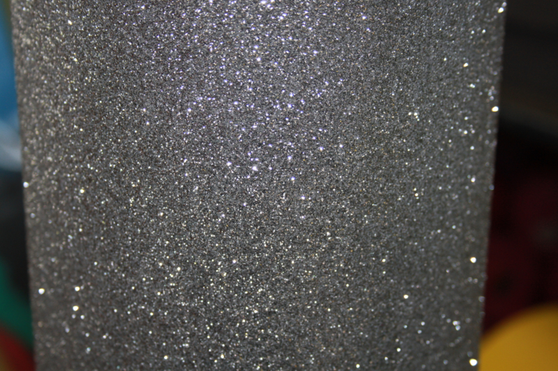 glitterfoam zilver