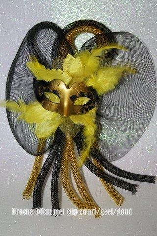 Zwart goud geel maskertje met tube