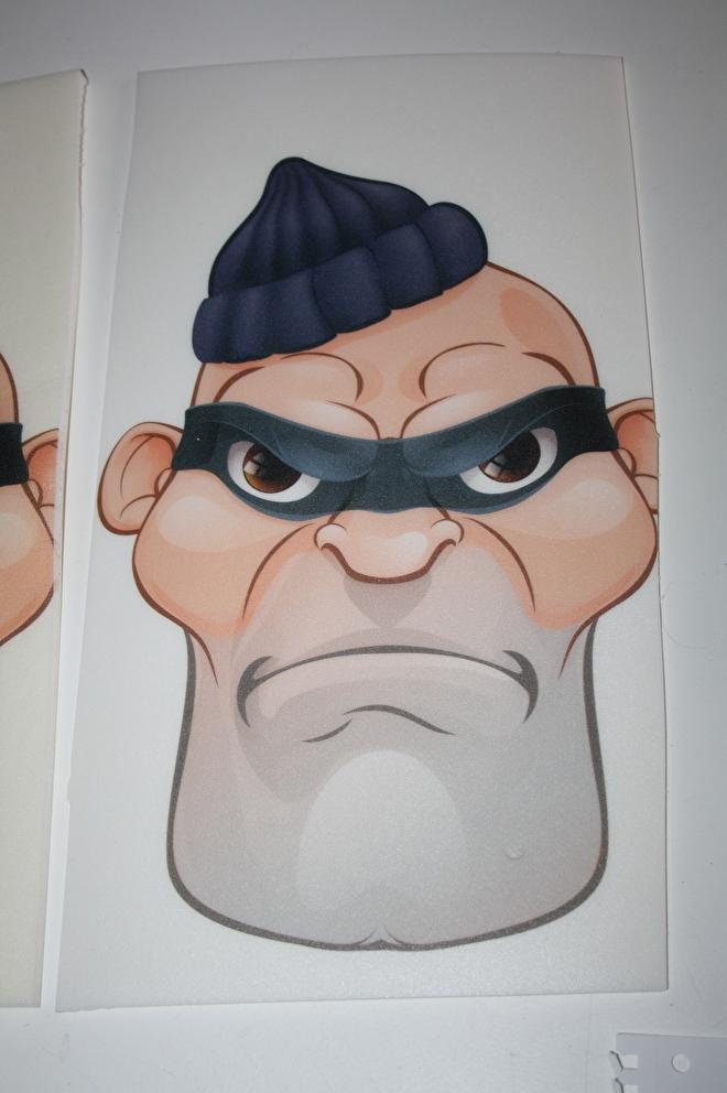 Cartoon geprint