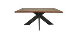 Eettafel - 200x100 cm - acaciahout/metaal