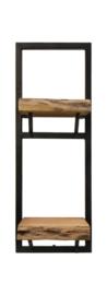 Wandplank Levels Live Edge - 25x70 cm - acacia/ijzer