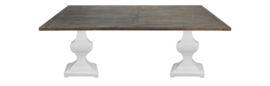 Eettafel Durham - 240x100 cm - old grey/wit