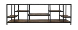 TV dressoir Levels - mangohout/ijzer