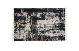 Vloerkleed - katoen - 230x160 cm - grijs/beige/blauw/goud