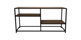 Sidetable Junction - 150x80 cm - oud teak/ijzer