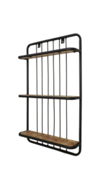 Wandplank - 50x80 cm - Mangohout/ijzer
