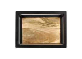Wandbox Levels - 35x25 cm - mangohout/ijzer