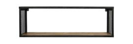 Wandplank Brixton - 98x30 cm - mangohout/ijzer