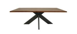 Eettafel - 240x100 cm - acaciahout/metaal