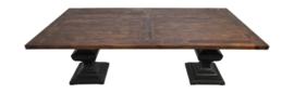 Eettafel Durham - 240x100 cm - vintage/worn black