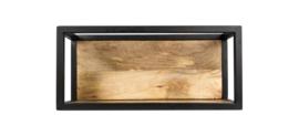 Wandbox Levels - 55x25 cm - mangohout/ijzer