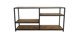 Sidetable Junction met onderplank - oud teak/ijzer
