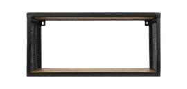 Wandplank Brixton - 64x30 cm - mangohout/ijzer