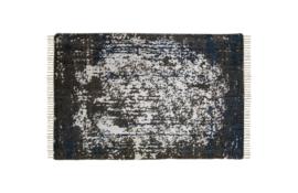 Vloerkleed - katoen - 300x200 cm - teal/beige