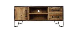TV meubel Hayward - mangohout/ijzer