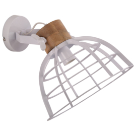 Wandlamp Ingmar groot glans wit
