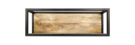 Wandbox Levels - 75x25 cm - mangohout/ijzer