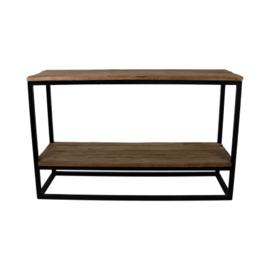 Sidetable met onderplank - oud hout/ijzer