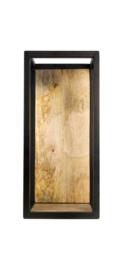 Wandbox Levels - 25x55 cm - mangohout/ijzer