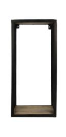 Wandplank Brixton - 30x64 cm - mangohout/ijzer