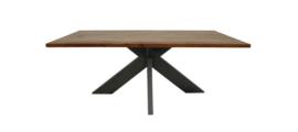 Eettafel - 220x100 cm - acaciahout/metaal