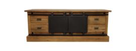 TV meubel Blackburn - reclaimed teak/ijzer