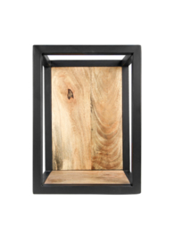 Wandbox Levels - 25x35 cm - mangohout/ijzer