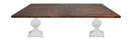 Eettafel Durham - 240x100 cm - vintage/wit