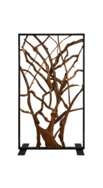Roomdivider - 100x180 cm - metaal/teak
