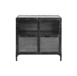 Vitrinekastje Brooklyn - ijzer/glas - Natural Steel