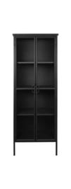 Vitrinekast Manhattan - metaal/glas - zwart