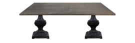 Eettafel Durham - 240x100 cm - old grey/worn black