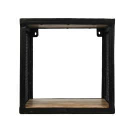 Wandplank Brixton - 30x30 cm - mangohout/ijzer