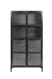 Vitrinekast Brooklyn - ijzer/glas - Natural Steel