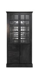 Whiskeykast - worn black/oud glas
