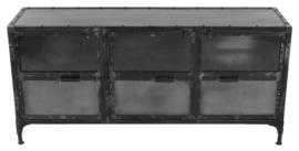 Dressoir Brooklyn - ijzer/glas - Natural Steel