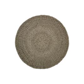 Vloerkleed - ø150 cm - raffia/zeegras - naturel