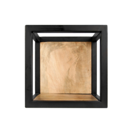 Wandbox Levels - 25x25 cm - mangohout/ijzer