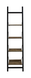 Decoratieve ladder - mangohout/ijzer - powdercoated black