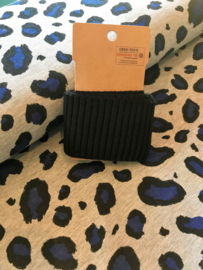 French terry (Brushed) - Panter blauw