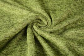 Gebreide Fleece Donker lime