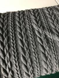 Gebreide kabel licht grijs