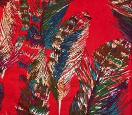Linnenlook veer rood